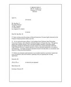 Cover Letter For Resume Email Sle Cover Letter For Resume 8 Exles In Word Pdf