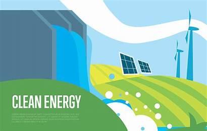 Energy Clean Wind Water Sun Power Vector