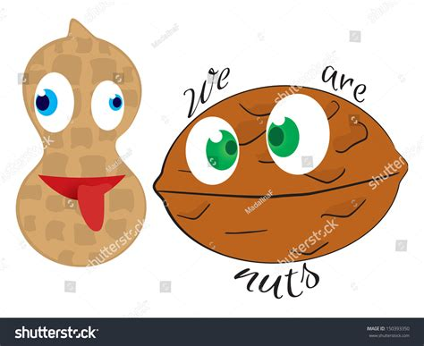 Two Crazy Nuts Stock Photo 150393350