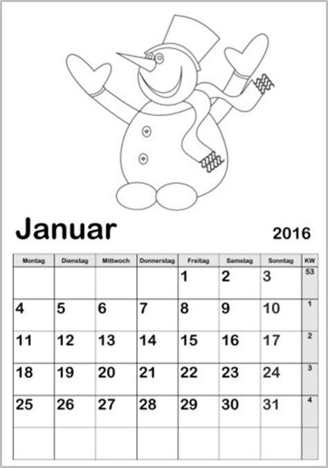 Jahreskalender Monatskalender 2016 Online Vorlagen