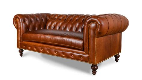 Chesterfield Loveseat Leather by Cococohome Classic Chesterfield Leather Loveseat Made