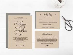 Wedding invitation template printable editable text and for Wedding invitations 2 pages