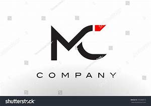 Mc Logo Letter Design Vector Red Stock Vector 576468913 ...