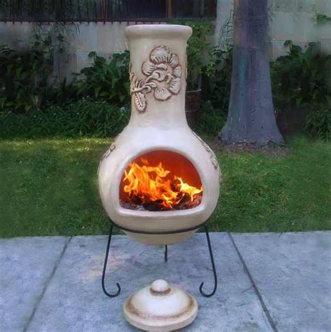 chiminea clay outdoor fireplace unique and useful chiminea clay outdoor fireplace