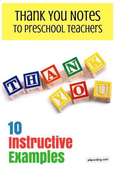thank you notes to daycare teachers 10 instructive examples 407 | thank you daycare teacher article