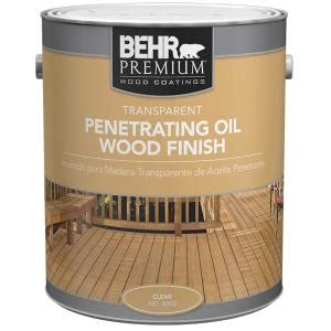 behr premium  gal  transparent penetrating oil wood