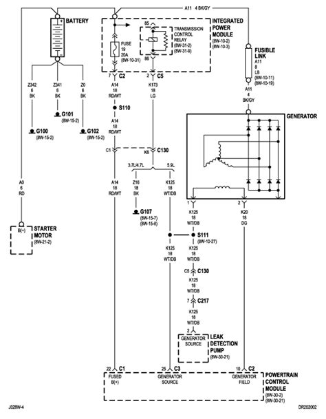For A Dodge Ram 2500 Alternator Wiring Diagram by Charging System Problem Odge Ram 1500 4 7 Has New