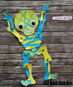 Day Of The Dead Paper Puppet Template - Red Ted Art