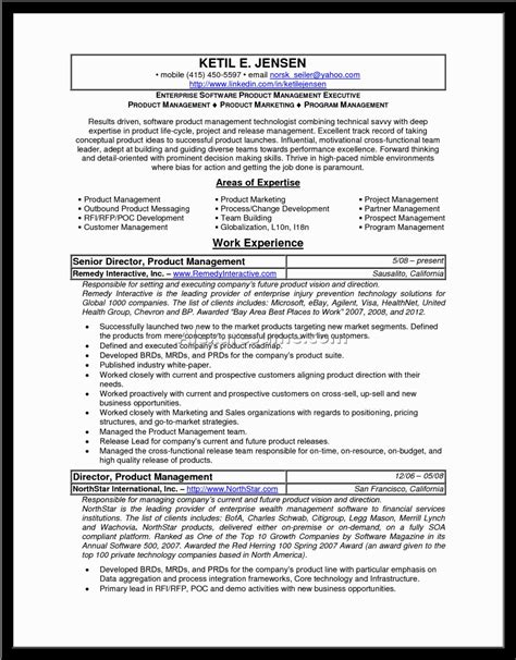 product manager resume sle best free home