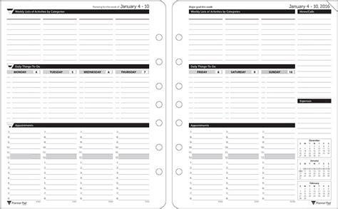 sample  weekly planner pad template printable weekly planner template