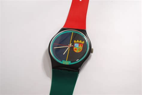 wall swatch maxi swatch wall clock 1987 flux vintage