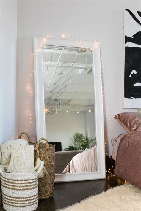 Glamorous Bedroom Mirrors by Midtown Loft White Floor Mirror Lights
