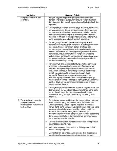Visi Indonesia, Karakteristik Bangsa dan Tantangan Ilmu