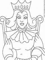 Queen Coloring Queens Printable Kings Colouring Medieval Template Printables Recommended Lightupyourbrain sketch template