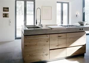 Kuche beton eiche pj kitchens interiors and haus for Küche eiche