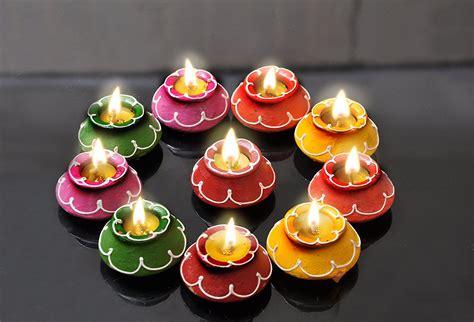 diwali lights diyas  diwali candles led rice