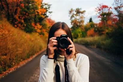 Taking Person Camera Woman Photograph Canon Romance