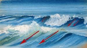Comment Dessiner La Mer : dessin et peinture vid o 1342 comment dessiner des vagues avec des craies pastel gras ~ Dallasstarsshop.com Idées de Décoration