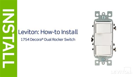 leviton presents   install  decora combination