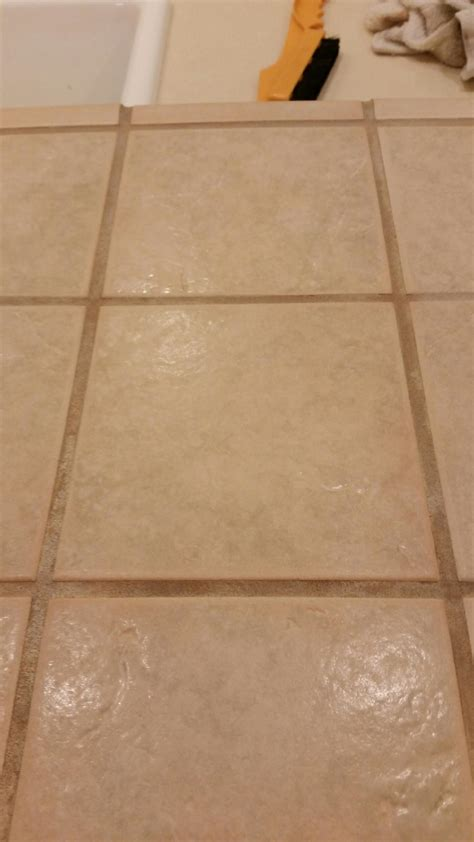 color seal before and after carpet tile grout