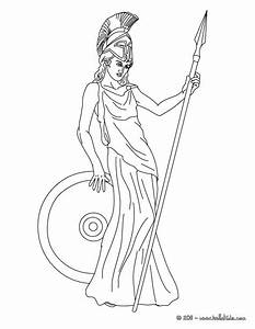 Athena the greek goddess of wisdom coloring pages Hellokids