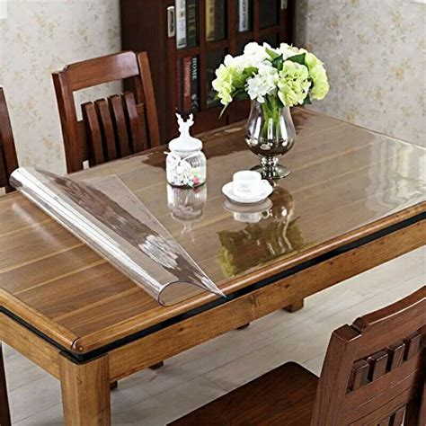 cut to size table protector ostepdecor 42 quot wide waterproof pvc protector for table