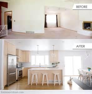 Split-Level Open Floor Plan Kitchen