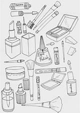 Coloring Makeup Printable Sheets Spinsterhooddiaries Using Eyeliner Printables Spring sketch template