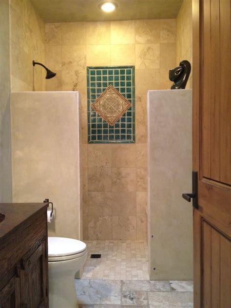 santa fe modern adobe contemporary bathroom