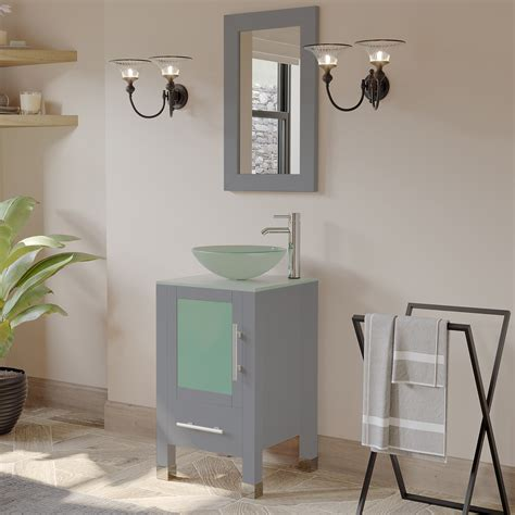 """Want to shop bathroom vanities nearby? 18"""" Single Sink Bathroom Vanity Set with Polished Chrome ..."""