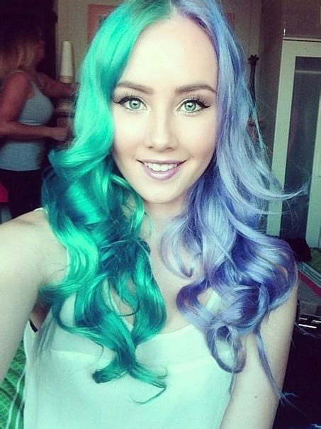 Split Dyed Hair Color Popsugar Beauty
