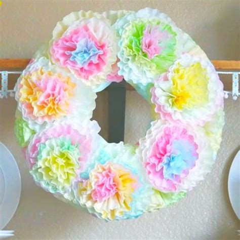Collection by lisa mcintyre • last updated 10 days ago. Pastel Spring Coffee Filter Wreath - My Pinterventures