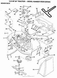 Ayp  Electrolux Wem125r38a  1994  Parts Diagram For Mower Deck