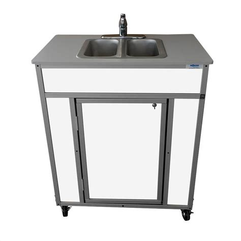 lowes kitchen sinks stainless shop monsam white basin stainless steel portable 7267