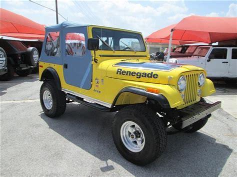 jeep renegade convertible 1977 jeep cj7 renegade 71 475 miles yellow convertible v8