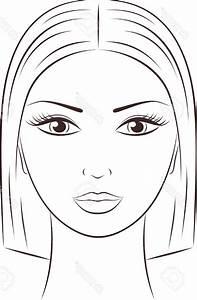 Women Face Sketch Outline Vector Illustration Of A Female ...