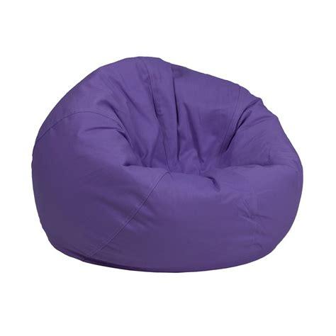 small solid purple bean bag chair