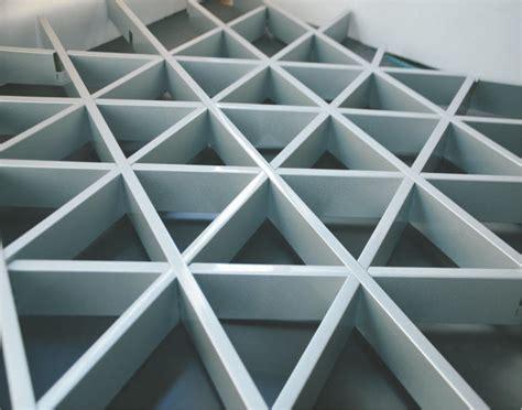 Metal Ceiling Grid by Decorative False Triangle Metal Aluminum Grid Ceiling