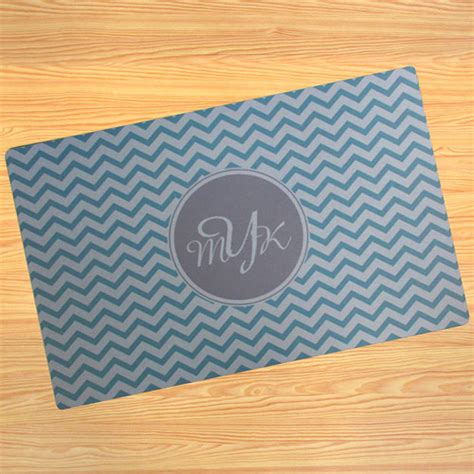 Make Your Own Doormat by Personalized Aqua Chevron Doormat For Home Decor