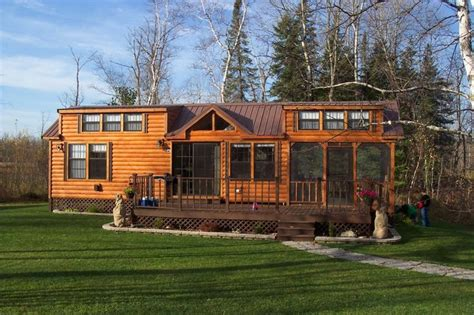 house plans with screened porches log cabin park models another great rv cabin with a big