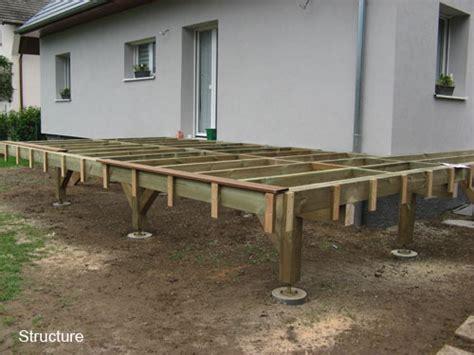 terrasse bois composite sur pilotis