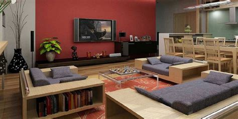Living Room Decoration With Lcd Tv