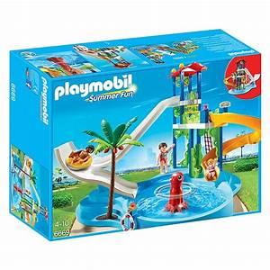 6669 parc aquatique avec toboggans geants playmobil With playmobil piscine avec toboggan pas cher