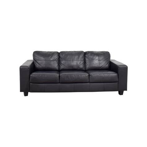 Sofa Ikea Leder by 44 Ikea Ikea Skogaby Black Leather Sofa Sofas