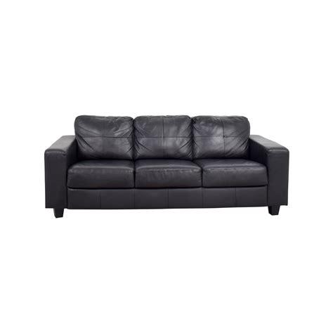 ikea ikea skogaby black leather sofa sofas