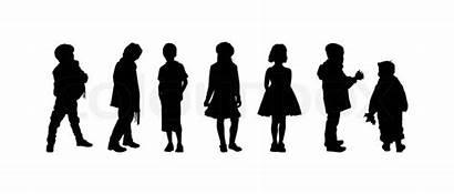 Age Preschool Boys Silhouettes Af Drenge Piger