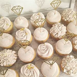 Bridal cupcakes rustic shower hydrangea roses diamond for Wedding shower cupcakes