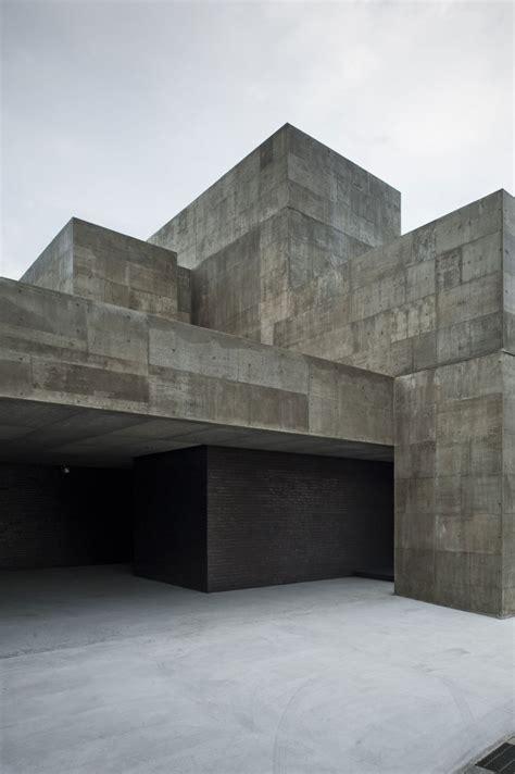angled modern concrete construction  shiga prefecture
