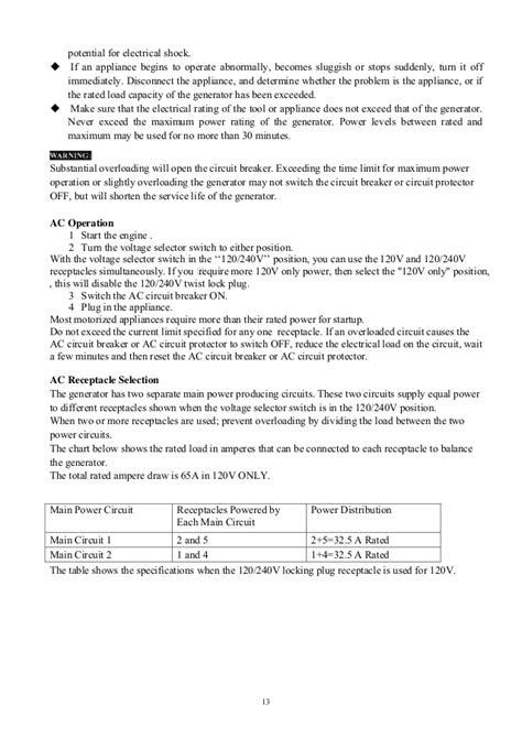 Duromax Xpe Generator Owners Manual