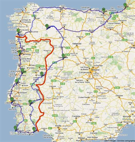 Carte Autoroute Espagne Portugal by Circuit En Voiture Au Portugal Et Espagne